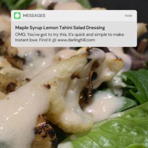 maple syrup sweetened lemon tahini dressing