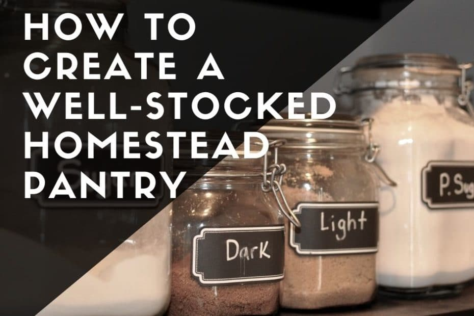 how to create a well stocked prepper homestead pantry