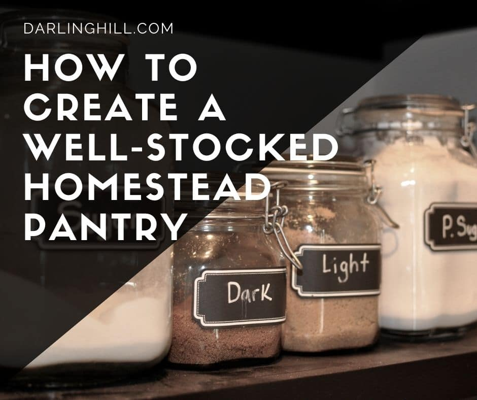 how to create a well stocked prepper homestead pantry or a pantry with saved seeds